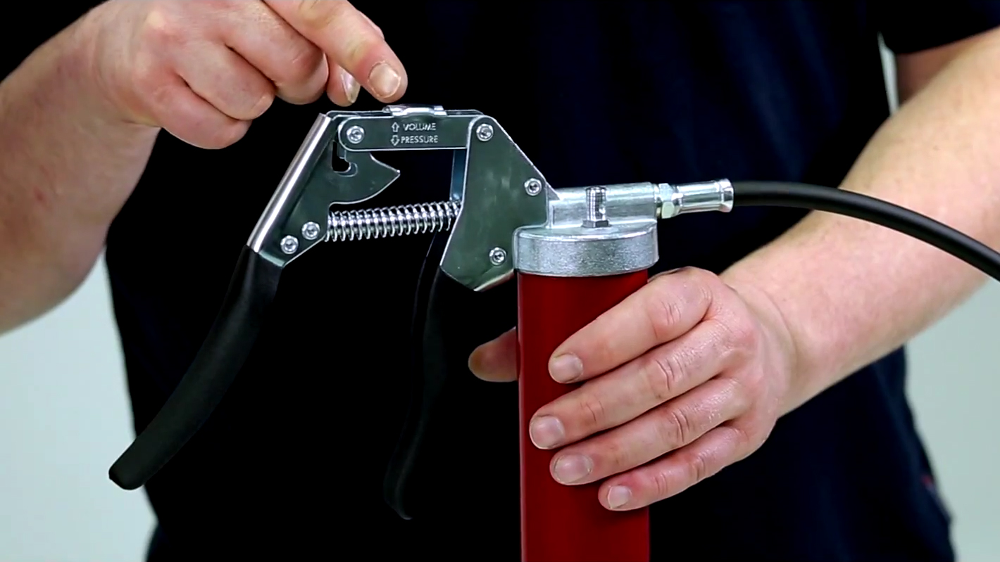 One hand grease gun